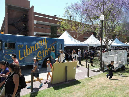 LA County Library tent and Store van at Festival of Books