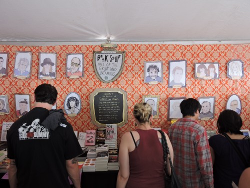 Book Soup tent Hall of Great & Infamous Writers