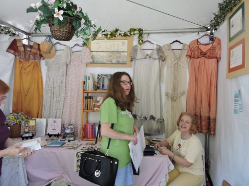 Inside the JANSA tent at the Festival