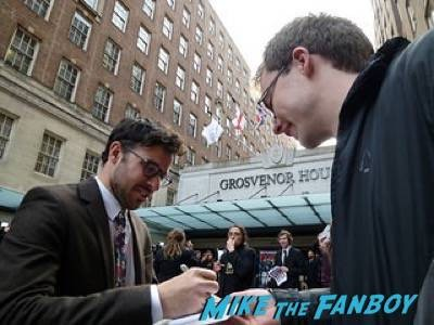simon bird Empire Awards Red Carpet Signing autographs henry Cavill simon pegg 16