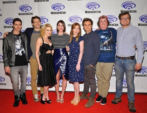 L-R: Will Peltz, Jason Blum, Renee Olstead, Shelley Hennig, Courtney Halverson, Moses Storm, Jacob Wysocki and Nelson Greaves *Photo Courtesy of Universal Pictures