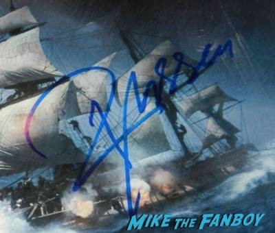 Russell Crowe signed autograph master and commander mini poster