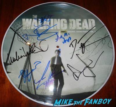 The Walking Dead signed autograph record store day picture disc