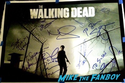 The Walking dead panel fyc 2015 andrew lincoln signed autograph norman reedus 2