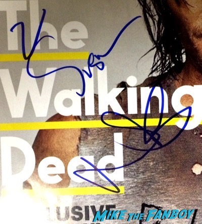 norman reedus signed the walking dead entertainment weekly magazine cover