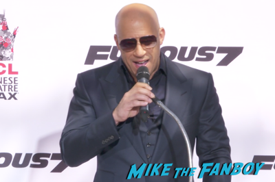 Vin Diesel hand and footprint ceremony chinese theater hollywood 2