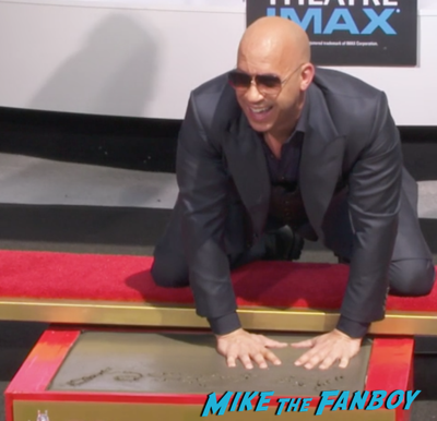 Vin Diesel hand and footprint ceremony chinese theater hollywood 4