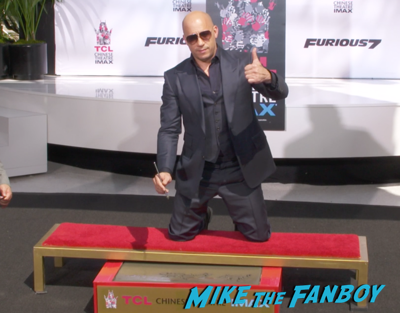Vin Diesel hand and footprint ceremony chinese theater hollywood 8