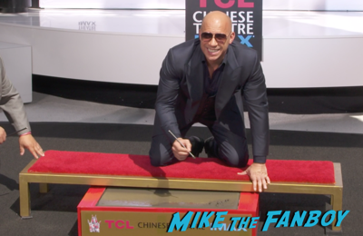 Vin Diesel hand and footprint ceremony chinese theater hollywood 9