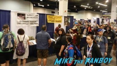 Wondercon day 2 convention floor san andrea signing 2