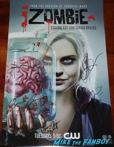 izombie cast signed autograph poster wondercon 2015