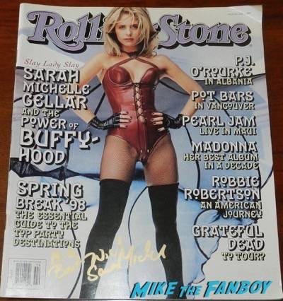 sarah michelle gellar signed autograph rolling stone magazine 1998