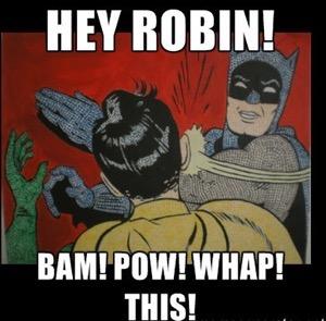 batman slap robin