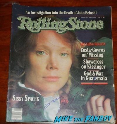 sissy spacek signed rolling stone magazine
