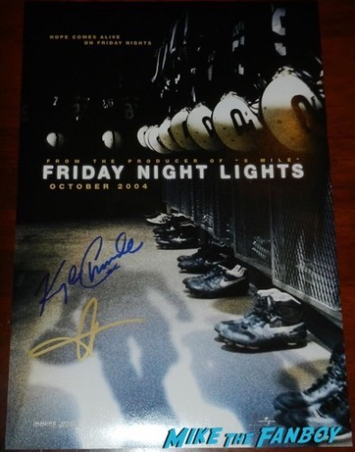friday night lights cast signed poster