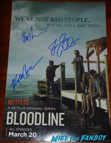 Bloodline cast signed mini poster