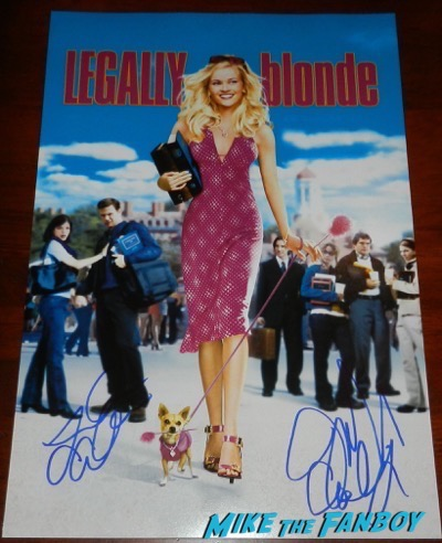 legally blonde cast signed poster