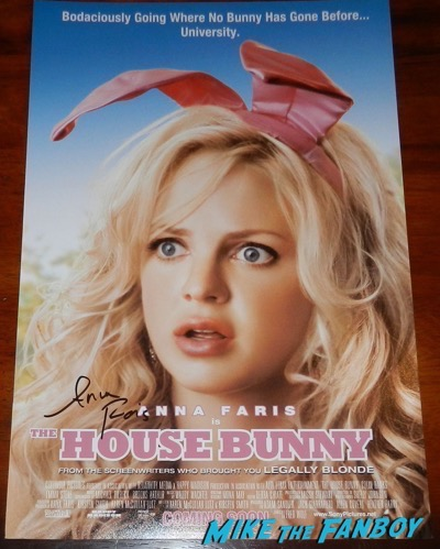 Anna Faris signed autograph the house bunny poster
