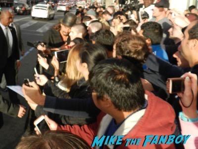 Jason Momoa signing autographs Mad Max Fury Road premiere Tom Hardy signing autographs 26