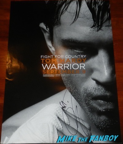 tom hardy signed autograph warrior poster