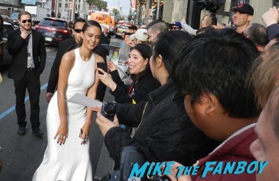 Courtney Eaton signing autographs Mad Max Fury Road premiere Tom Hardy signing autographs 4