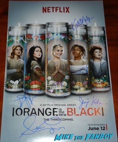 Orange Is The New Black season 3 signed autograph poster