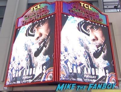 San Andreas Los Angeles Premiere The Rock carla gugino 8