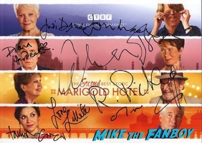 Second Best Exotic Marigold Hotel – World Premiere signing autographs7