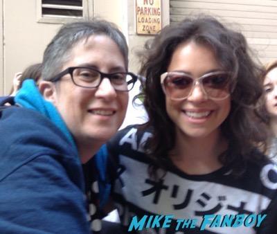 Tatiana Maslany signing autographs LIVE WITH KELLY & MICHAEL 1