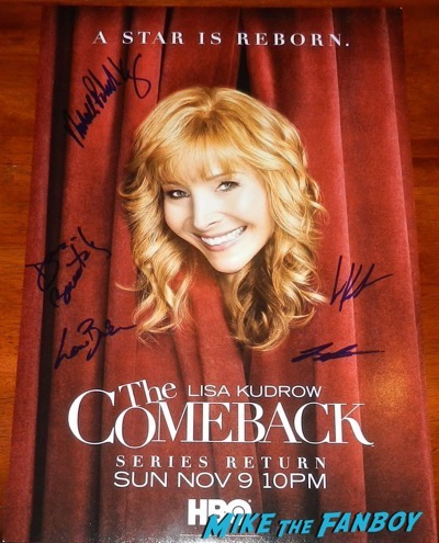 The Comeback cast signed autograph poster lisa kudrow
