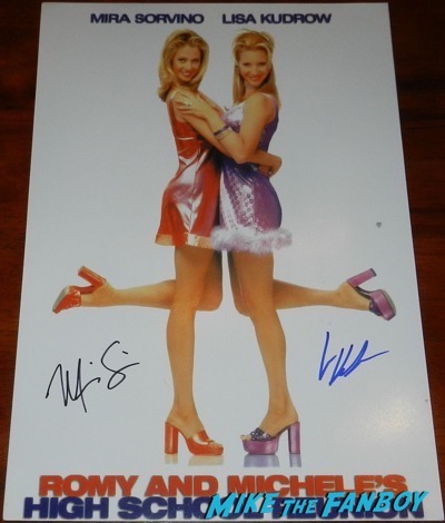 romy and michele's high school reunion signed poster lisa kudrow mira sorvino