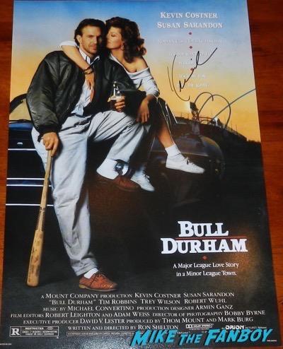 susan sarandon signed bull durham mini poster