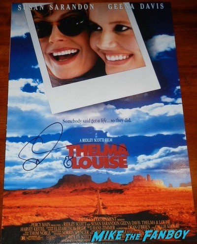 thelma and louise signed susan sarandon mini poster