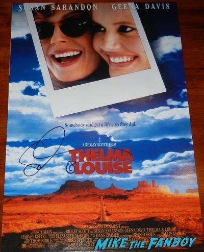 thelma and louise signed susan sarandon mini poster