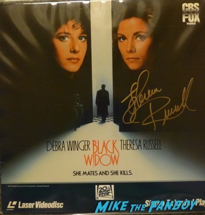 Theresa Russell signed black widow laserdisc now fan photo 2015 signing autographs black widow 1