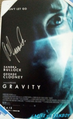 george clooney signed gravity poster