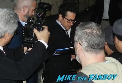 JJ Abrams signing autographs irish awards jj abrams signing autographs carrie fisher 3