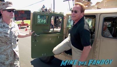 Arnold Schwartzenegger camp pendelton terminator screening 6