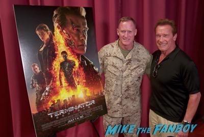 Arnold Schwartzenegger camp pendelton terminator screening 7