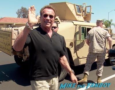 Arnold Schwartzenegger camp pendelton terminator screening 9