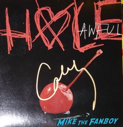 Courtney Love signed Awful vinyl lp