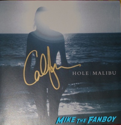 Courtney Love signed Malibu vinyl lp
