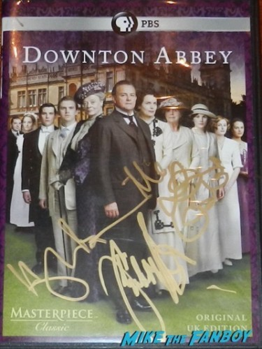 Downton Abbey signed autograph dvd cover poster
