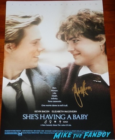 she's having a baby signed poster elizabeth mcgovern