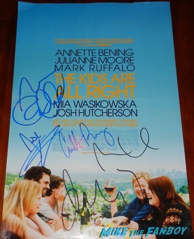 Mark Ruffalo signed the kids are all right mini poster annette benning
