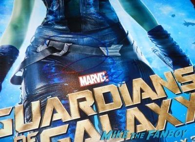zoe saldana signed autograph guardians of the galaxy gamora poster