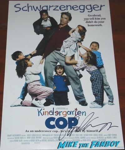 kindergarden Cop poster signed by arnold schwarzenegger