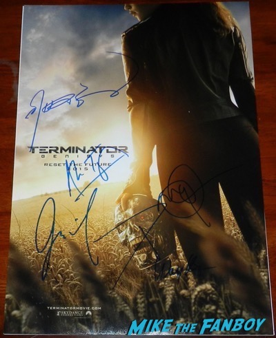 Terminator: Genisys signed autograph poster