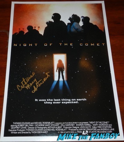 Catherine Mary Stewart autograph night of the comet mini poster