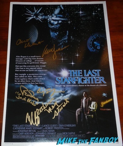 The Last Starfighter signed autograph movie poster lance guest catherine mary stewart